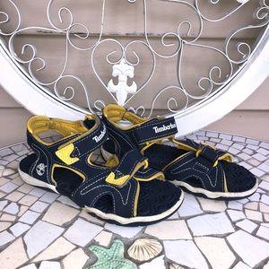 Timberland Kids Sandals youth size 1 Blue Yellow